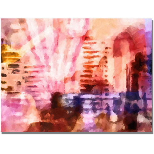 "Trademark Fine Art ""Pink Urban"" Canvas Wall Art by Adam Kadmos"