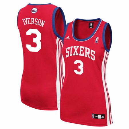 Allen Iverson Philadelphia 76ers NBA Adidas Women s Red Replica Jersey 574b59821