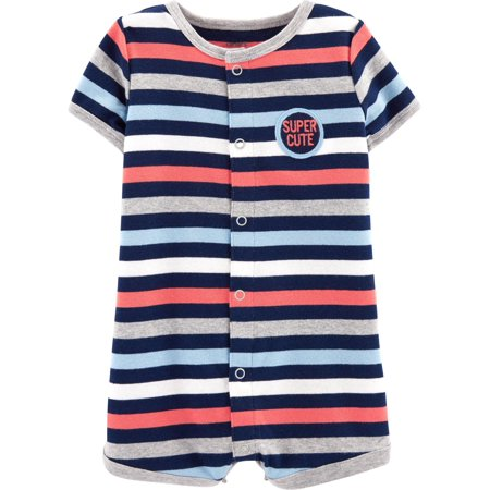 Carters Baby Boys Super Cute Striped Snap-Up Romper