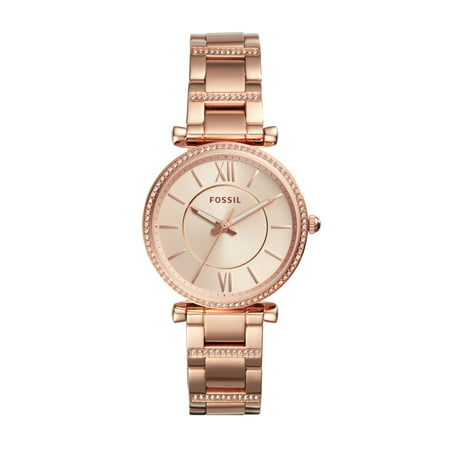 - Fossil Women's Carlie Rose Gold Tone Stainless Steel Watch (Style: ES4301)