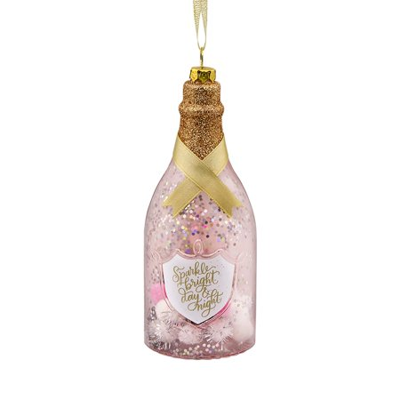 Hallmark Signature Premium Champagne Bottle Christmas Ornament , Glass ()