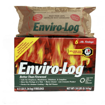Enviro-Log 6 Pack/3 lb. Firelog Case