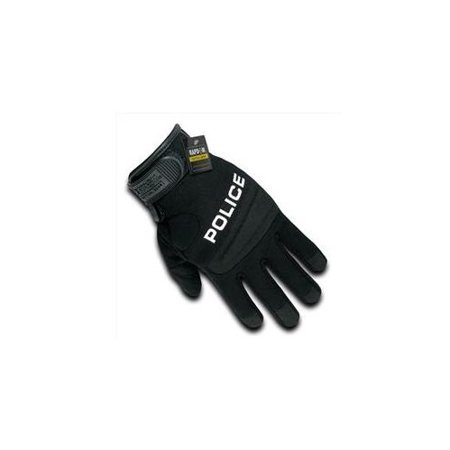 Police Leather Gloves - RapDom Police Digital Leather Mens Duty Gloves [Black - XL]