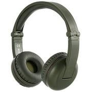 BuddyPhones Wireless Bluetooth Headphones for Kids Volume Limited, Foldable , Amazon Green