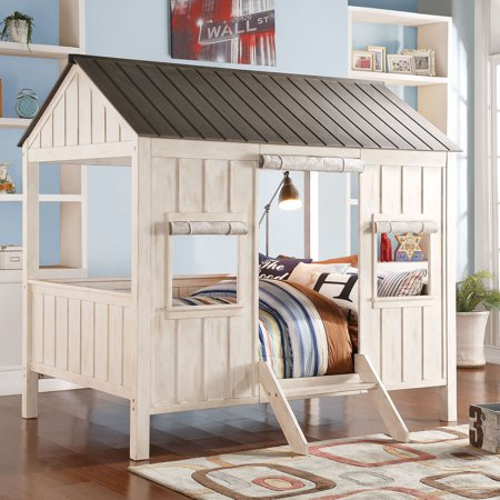Generic Spring Cottage Full Bed White Pink