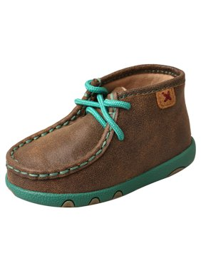 Twisted X Boots Boys Infant Driving Mocs Bomber/Turquoise