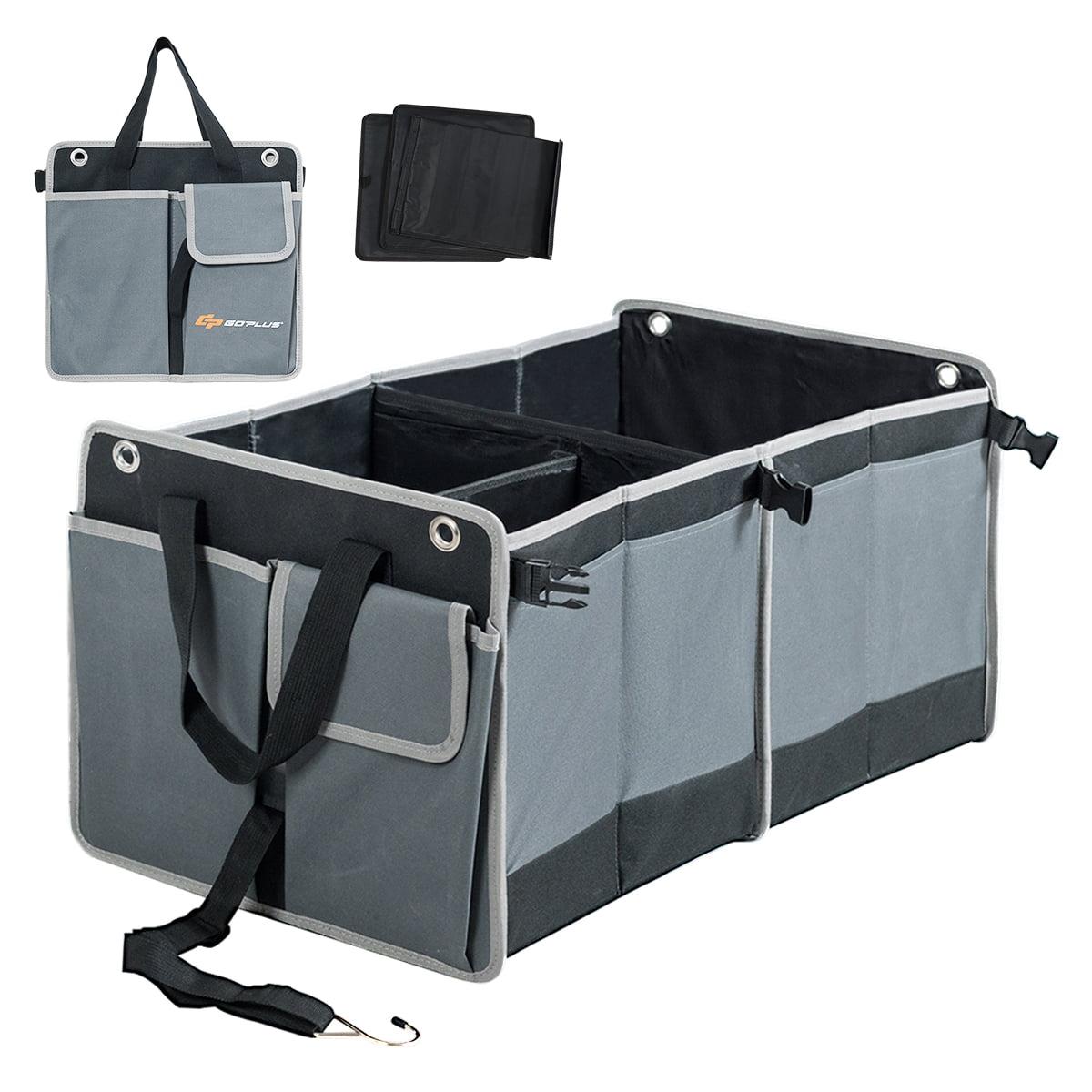 Auto Sport Folding Trunk Organizer Oxford Cloth Car Storage Bag Compartment Foldable Pockets Portable Cargo Carrier Accessries fit NO Logo