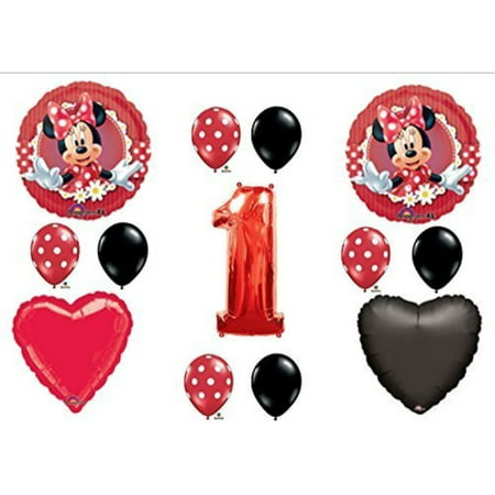 Mad iout Minnie Mouse 1st First Birthday Party Balloons Decorations Supplies (Minnie Mouse Party Supplies 1st Birthday)