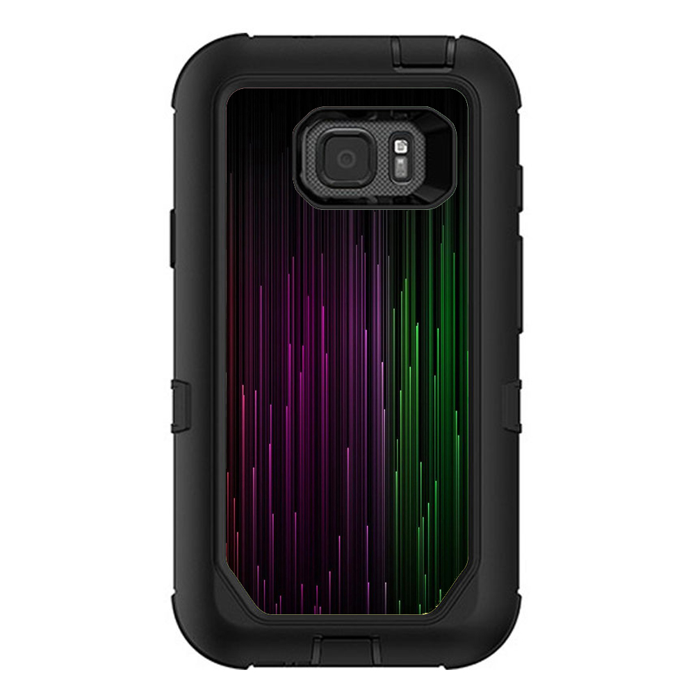Skins Decals For Otterbox Defender Samsung Galaxy S7 Active Case / Red Green Blue Tracers