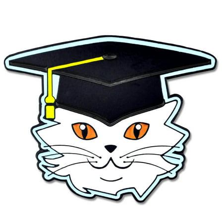Cat with Graduation Cap and Tassel School Enamel Lapel Pin