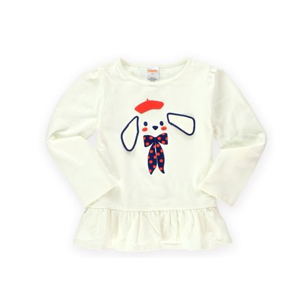 Gymboree Girls Puppy Tunic Embellished T Shirt