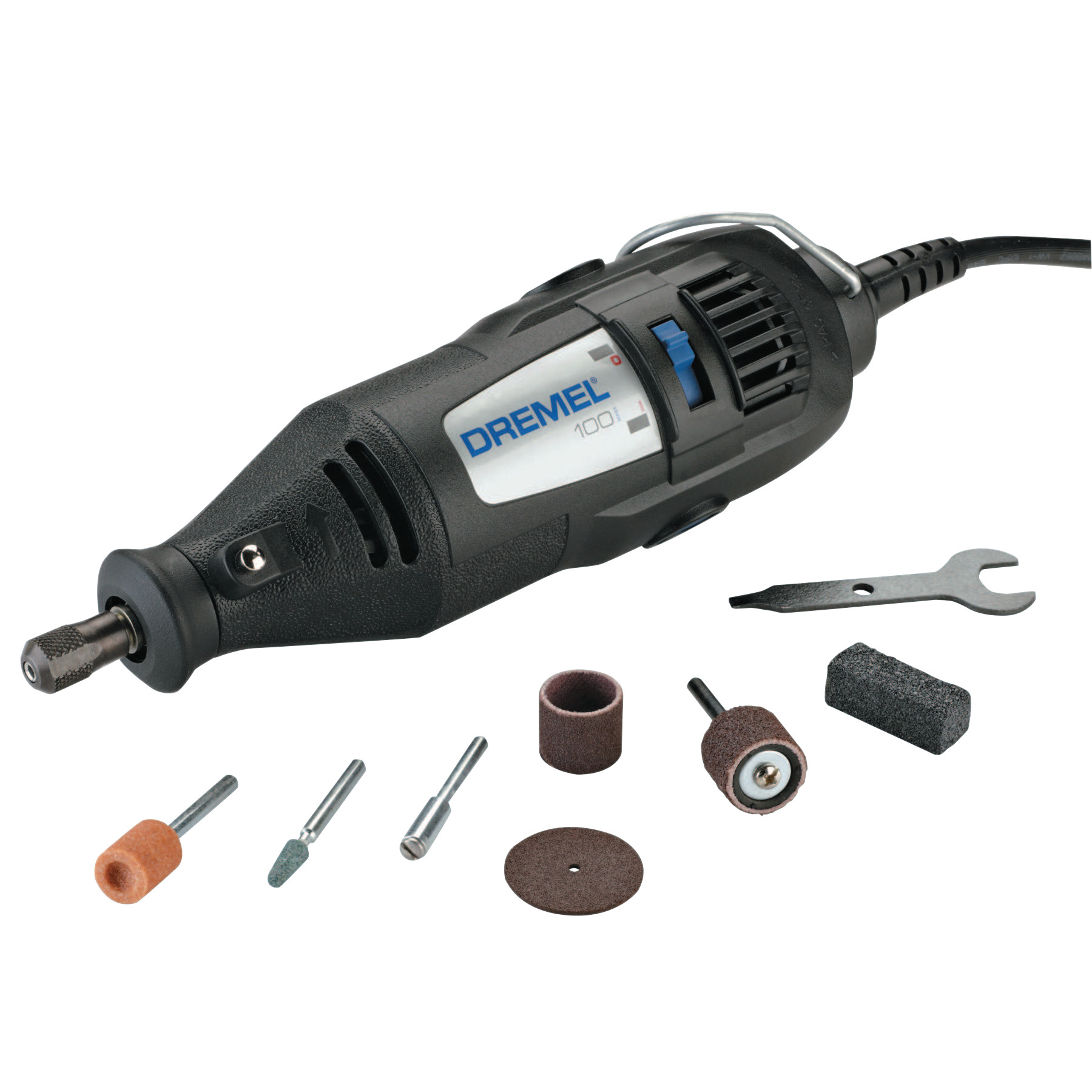 Dremel 100 Series Rotary Tools, 1-Speed, 35,000 rpm, (7) Assorted Accessories