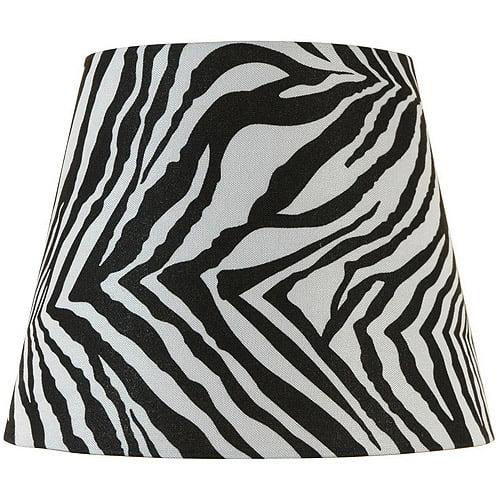 Better Homes and Gardens Round Drum Zebra Print Lamp Shade