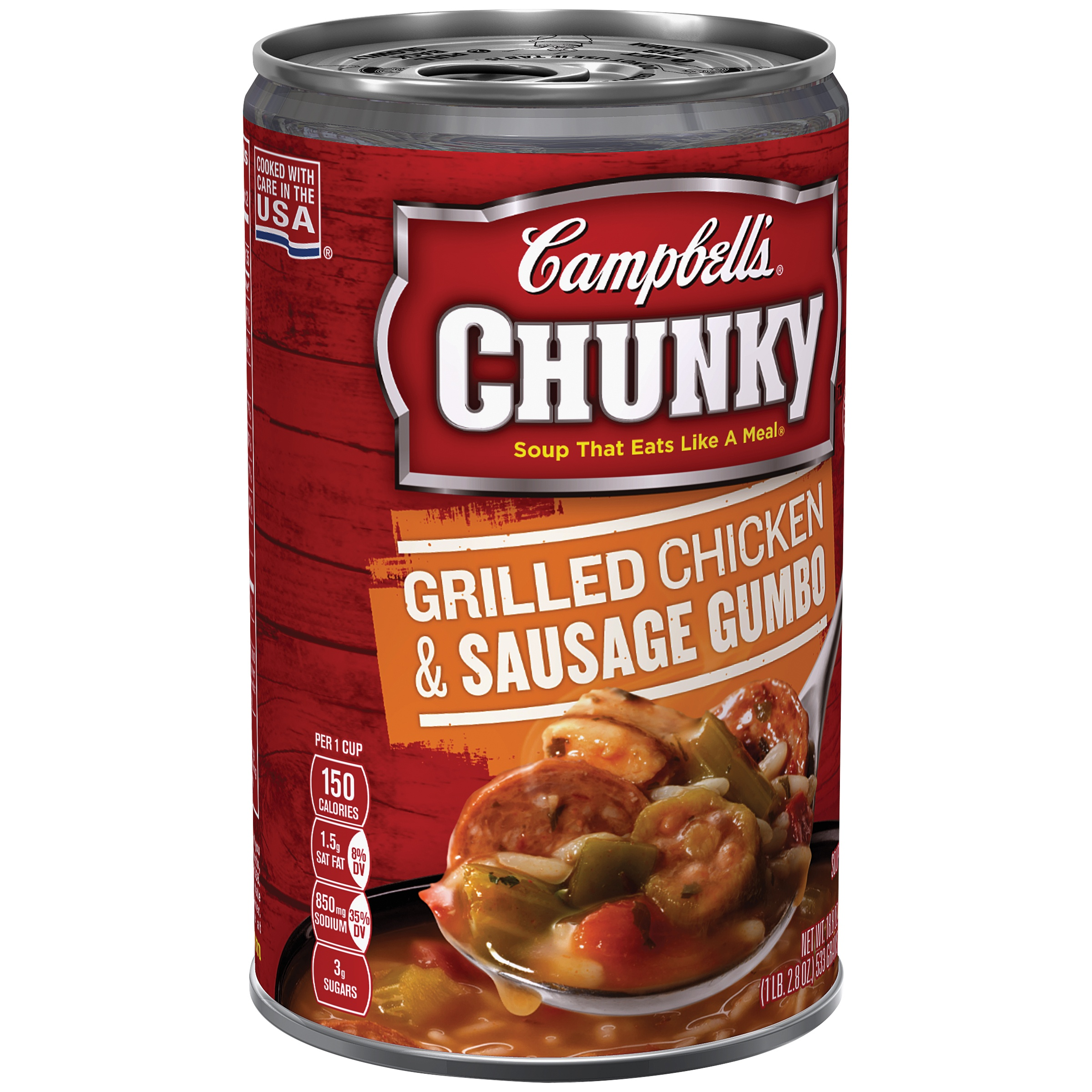 Campbell's Chunky Grilled & Sausage Gumbo Chicken Soup, 18.8 oz