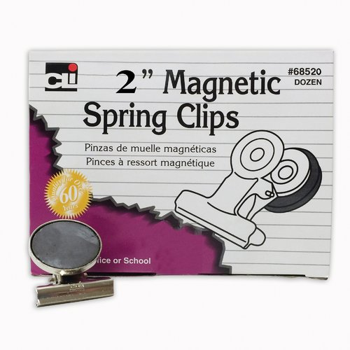 Charles Leonard Co. Magnetic Spring Clips Box-12 1 Each