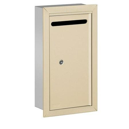 Salsbury Industries Aluminum 1 Unit Door Front Load 4C Horizontal Drop Box