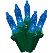 Holiday Time LED Lite Lock M5 Christmas Lights Blue, 225 Count