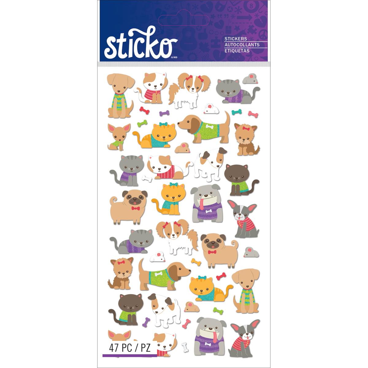 Sticko Stickers-Tiny Cats & Dogs - image 1 de 1