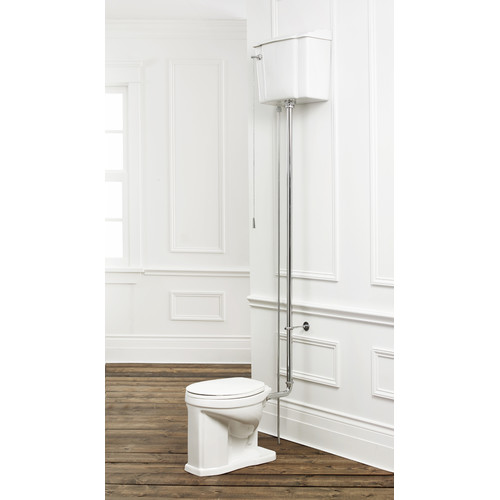 Cheviot Products 1.6 GPF Elongated Two-Piece Toilet (Seat Not Included)