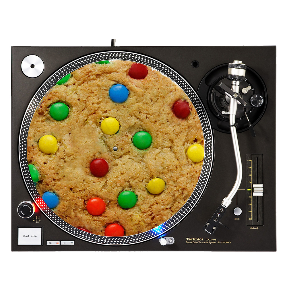 "KuzmarK™ 12"" DJ Turntable Slipmat - Cookie Color Chocolate"