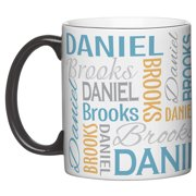 Personalized You Name It! Signature Coffee Mug Available in Blue or Pink and 2 Sizes