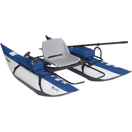 Classic accessories roanoke 1 person pontoon boat for Fishing pontoon boat reviews