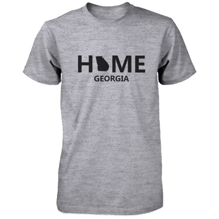 Home GA State Grey Men's T-Shirt US Georgia Hometown Cotton