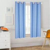 Mainstays Blue Plaid Kids Room Darkening Single Window Curtain Panel