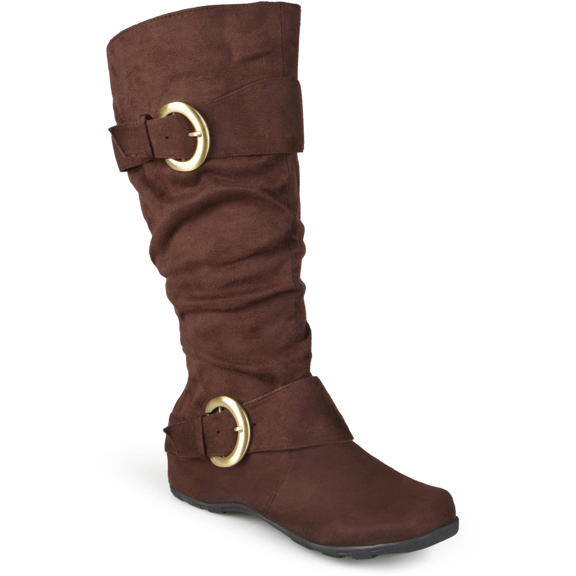 Image of Brinley Co. Women's Extra Wide Calf Mid-Calf Slouch Riding Boots