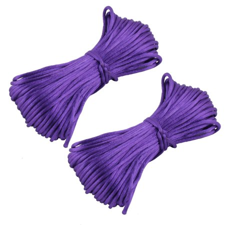 Festival Nylon Handmade Craft DIY Chinese Knot Cord String Purple 22 Yards (Hand Knotted Cord)