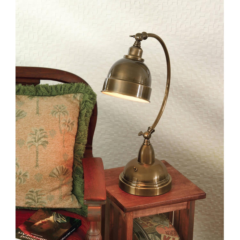 AF Lighting Plato Adjustable Desk Lamp, Satin Brass by AF Lighting