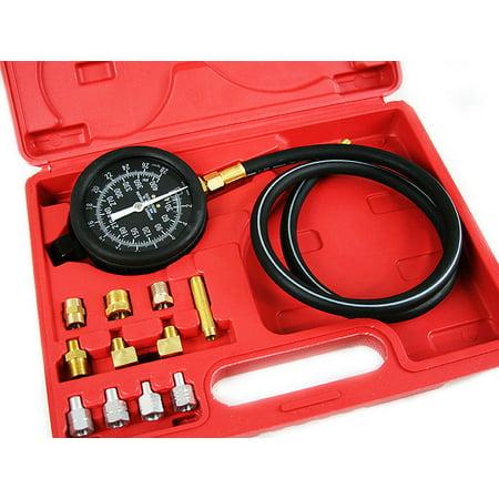 Oil Pressure Tester Kit - GHP Transmission Fluid & Engine Oil Pressure Tester Kit with 400PSI Pressure Gauge