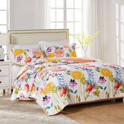 Global Trends Wildflower Delight 100% Cotton Quilt Set, Twin/Twin XL