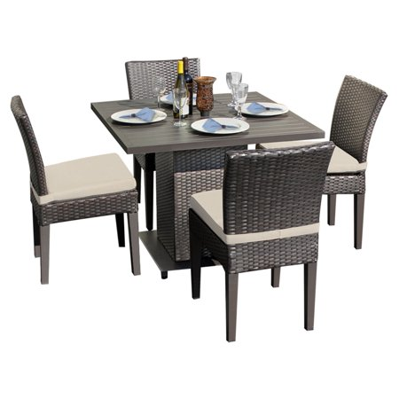 TK Classics Square Dining Table with 4 Chairs
