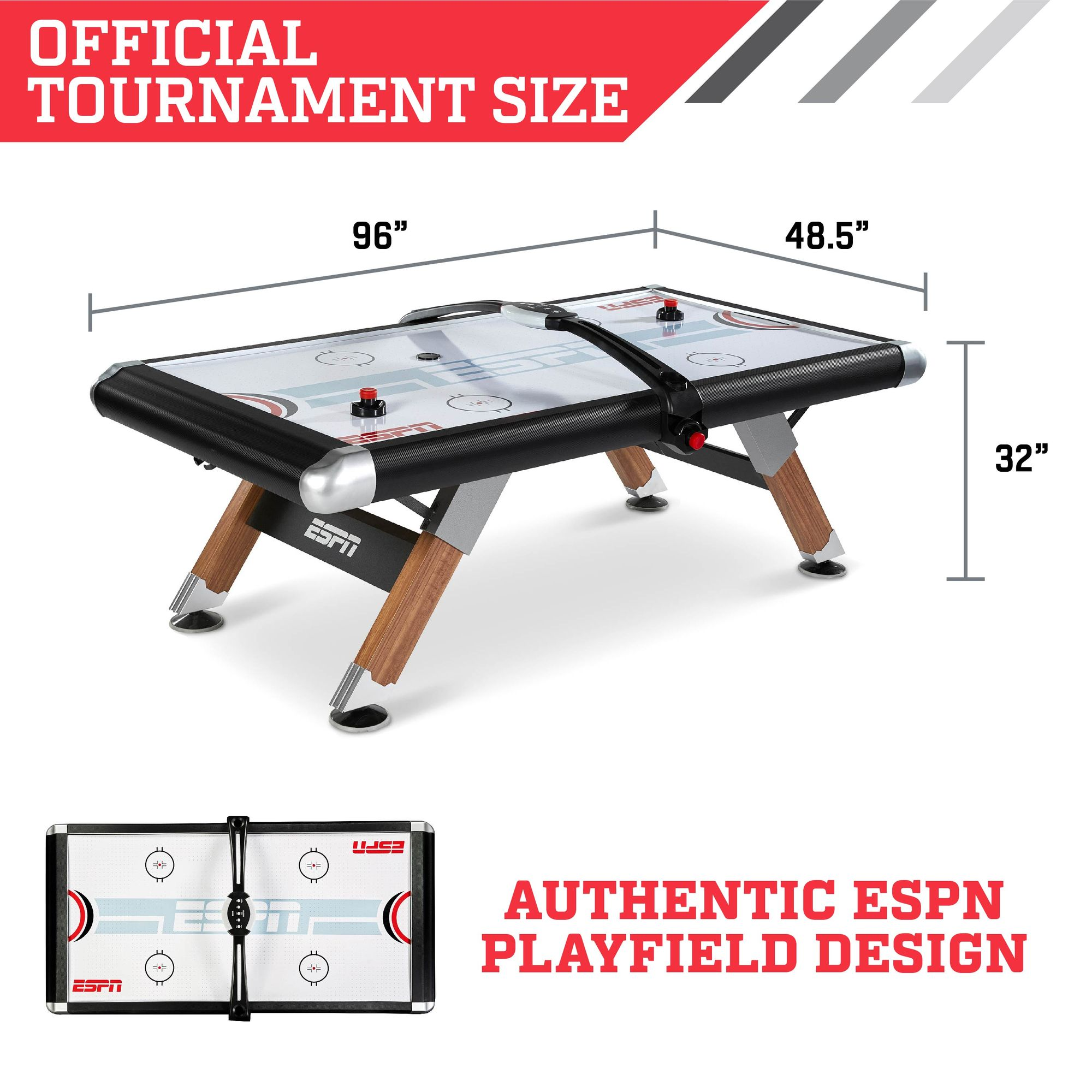 ESPN Belham Collection 8 Foot Air Powered Hockey Table Deals,...