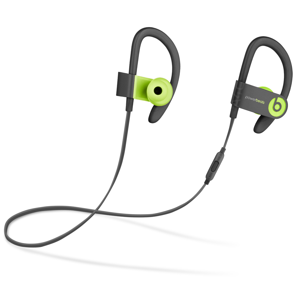 (Refurbished) Beats PowerBeats 3 Wireless In-Ear Headphone (MNN02LL/A) Black/Shock Yellow