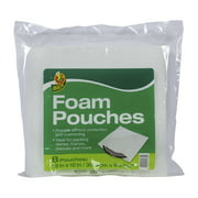 Duck Brand 12 in. x 12 in. White Foam Pouches, 8-pack