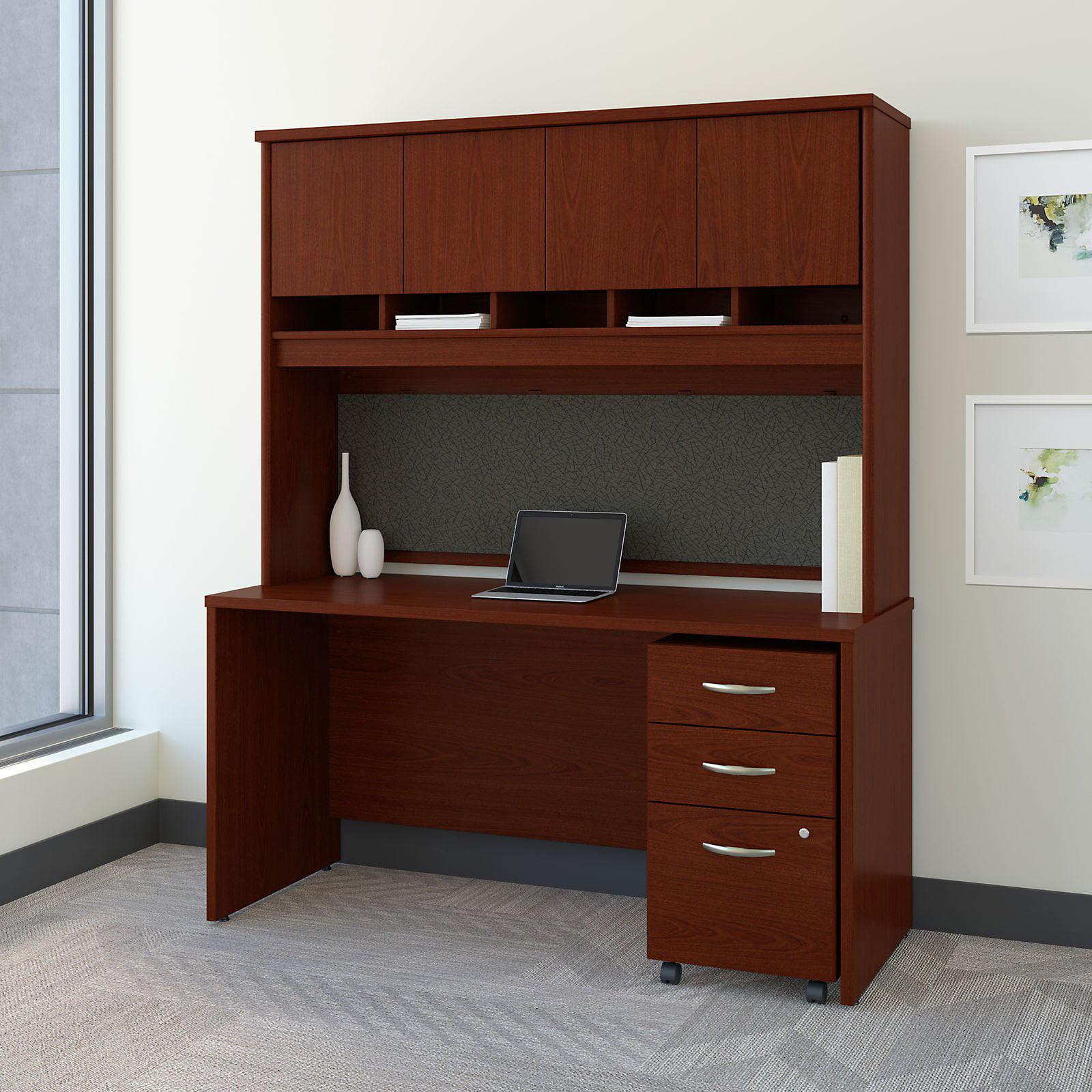 BBF Bush Furniture Series C 60 in. Office Desk with Hutch...