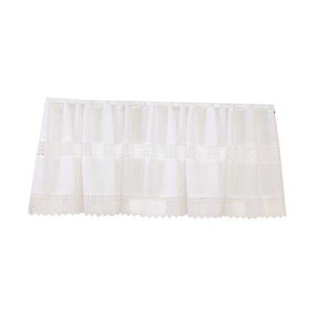 "Treasure macrame Lace Design sheer 60"" X 18"" Window Valance"