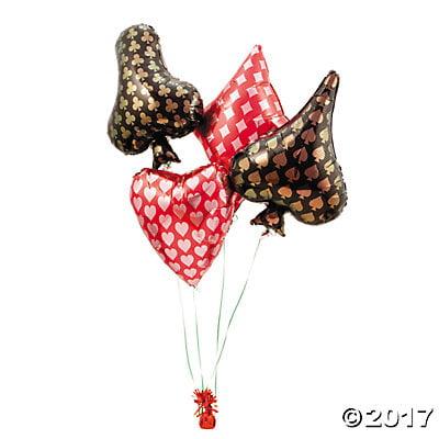 Card Suit Mylar Balloons