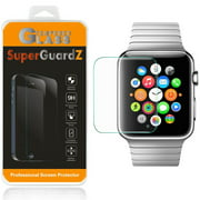 [2-Pack] For Apple Watch Series 3 38 mm (2017 Release) - SuperGuardZ Tempered Glass Screen Protector [Anti-Scratch, Anti-Bubble] + 2 Stylus Pen