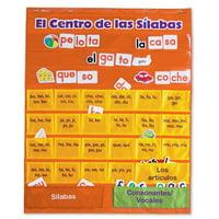 Learning Resources El Centro de las Silabas (Spanish Syllables) Pocket Chart, 225 Cards, Ages 6+