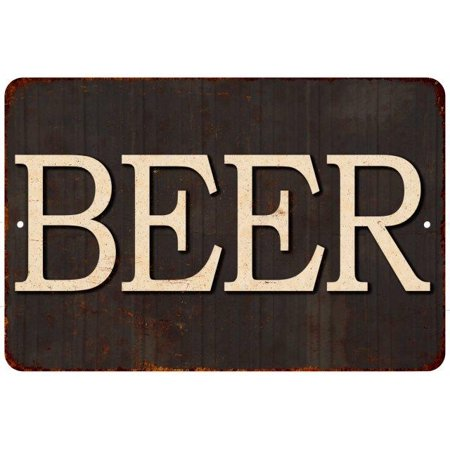 BEER Vintage Reproduction Metal Sign 8x12 8122562