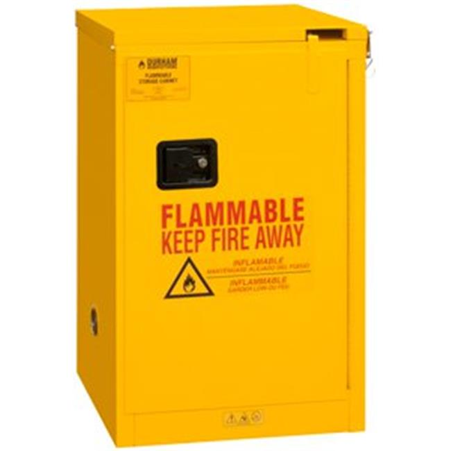 Durham 1016S-50 45 in. FM Approved Self Closing Safety Cabinet, Yellow - 16 gal