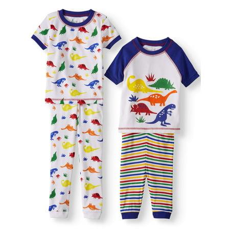 Boys Toddler Pajamas (Freestyle Revolution Mix n match tight fit pajamas, 4pc set (baby boys & toddler)