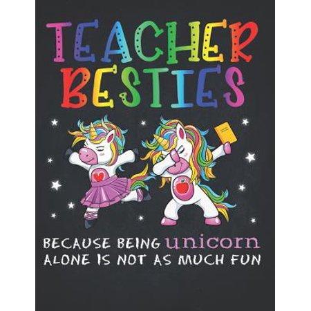 Unicorn Teacher: Rainbow Teacher Besties Ballet Dance Unicorn Perpetual Calendar Monthly Weekly Planner Organizer Kawaii colors best fr