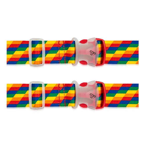 Set of 2 Travelon Luggage Strap - Rainbow Luggage Strap