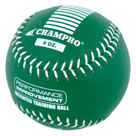 Glow In The Dark Softball (Champro Weighted Training Softball, 12in, 9oz, Kelly Green)