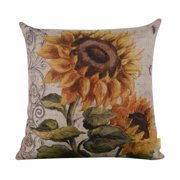 Womail Vintage Sunflower Square Throw Pillow Case Cushion Cover Home Decor