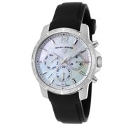 16527Sm-02 Legasea Diamond Multi-Function Black Silicone Mother Of Pearl Dial Watch